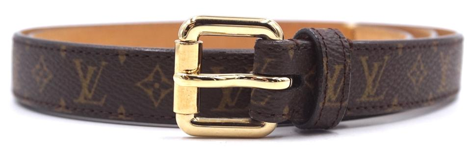Monogram Gold Buckle Leather Size 90/36 Belt