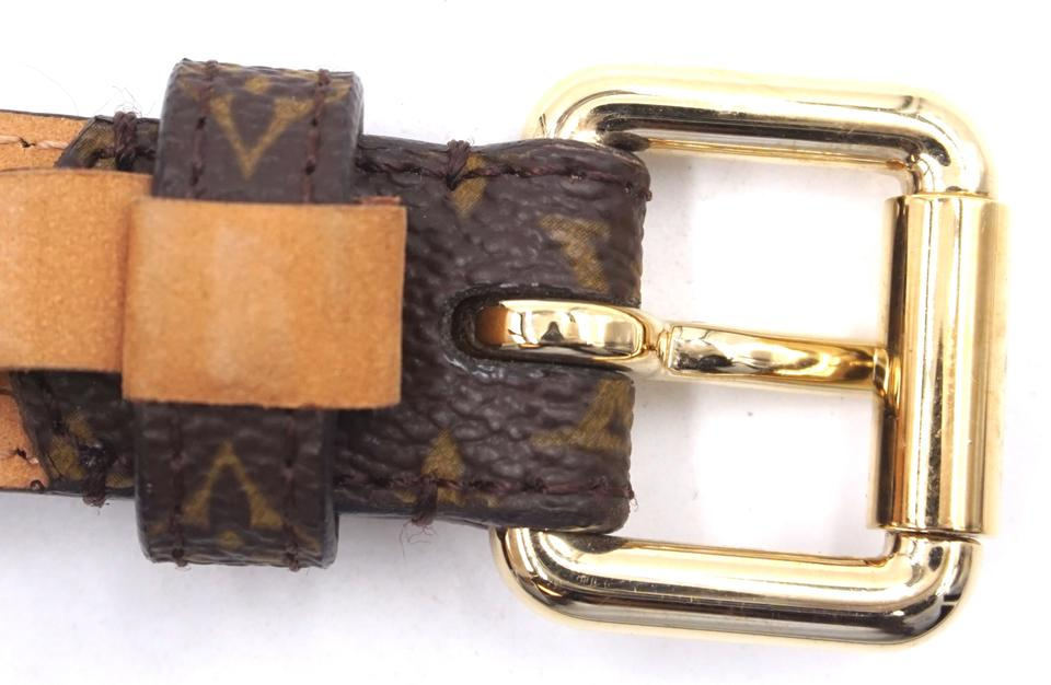 4f1adcf3b5fa Louis Vuitton Monogram Gold Buckle Leather Size 90 36 Belt - NYC ...