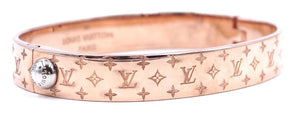 Louis Vuitton Monogram Bangle Cuff Size M Bracelet