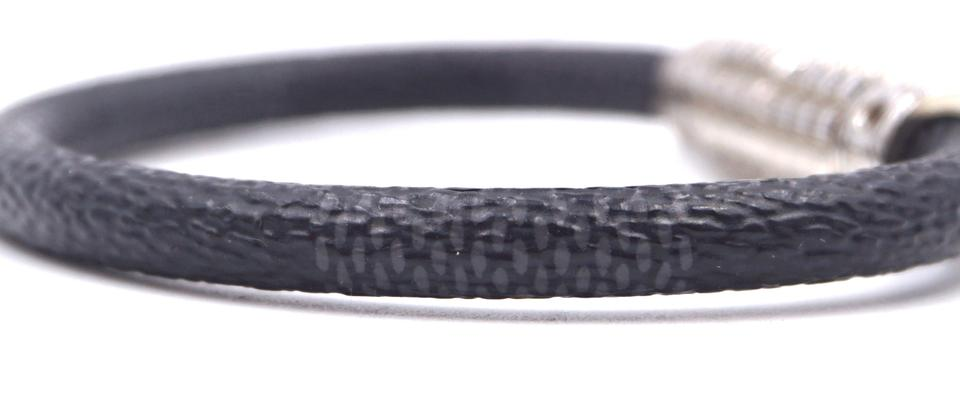 Louis Vuitton Damier Graphite Silver Textured Bracelet