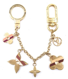 Louis Vuitton Muticolors Monogram Lock Key Ring Chain Charm