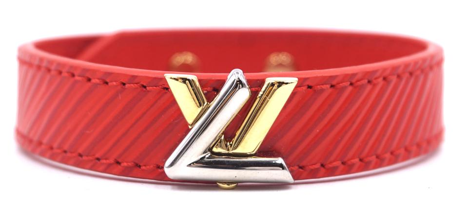 Louis Vuitton Epi Twist LV Logo Bracelet