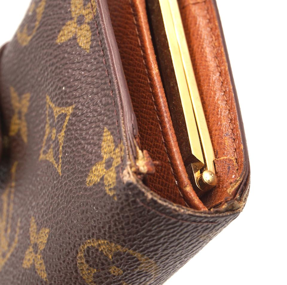 Louis Vuitton Monogram French Kiss Lock Wallet