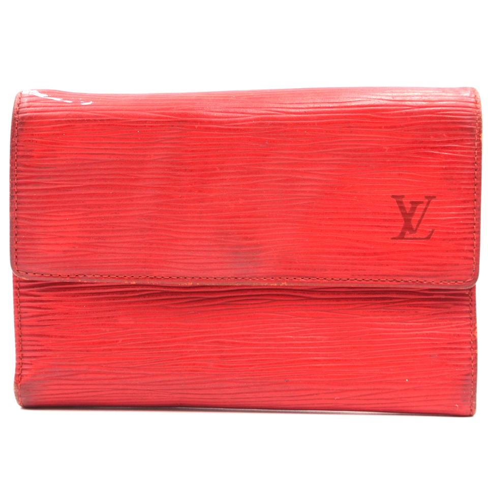 Louis Vuitton Red Epi Trifold Organizer Wallet