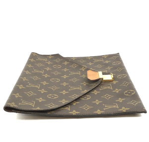 Louis Vuitton Sac Document Flap Clutch Monogram Canvas
