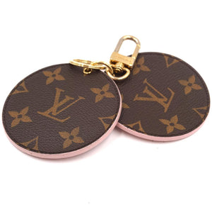 Louis Vuitton Monogram Key Chain with Mirror Charm