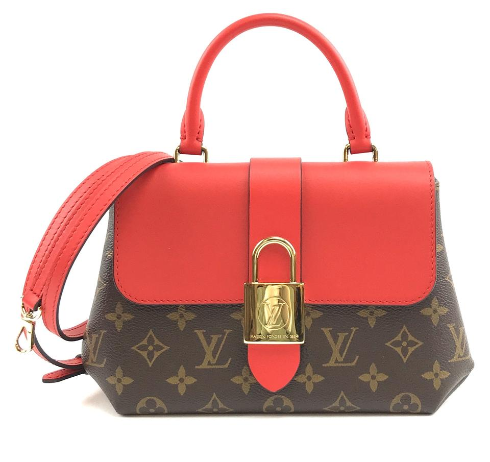 Louis Vuitton Locky BB Monogram and Red Leather Canvas