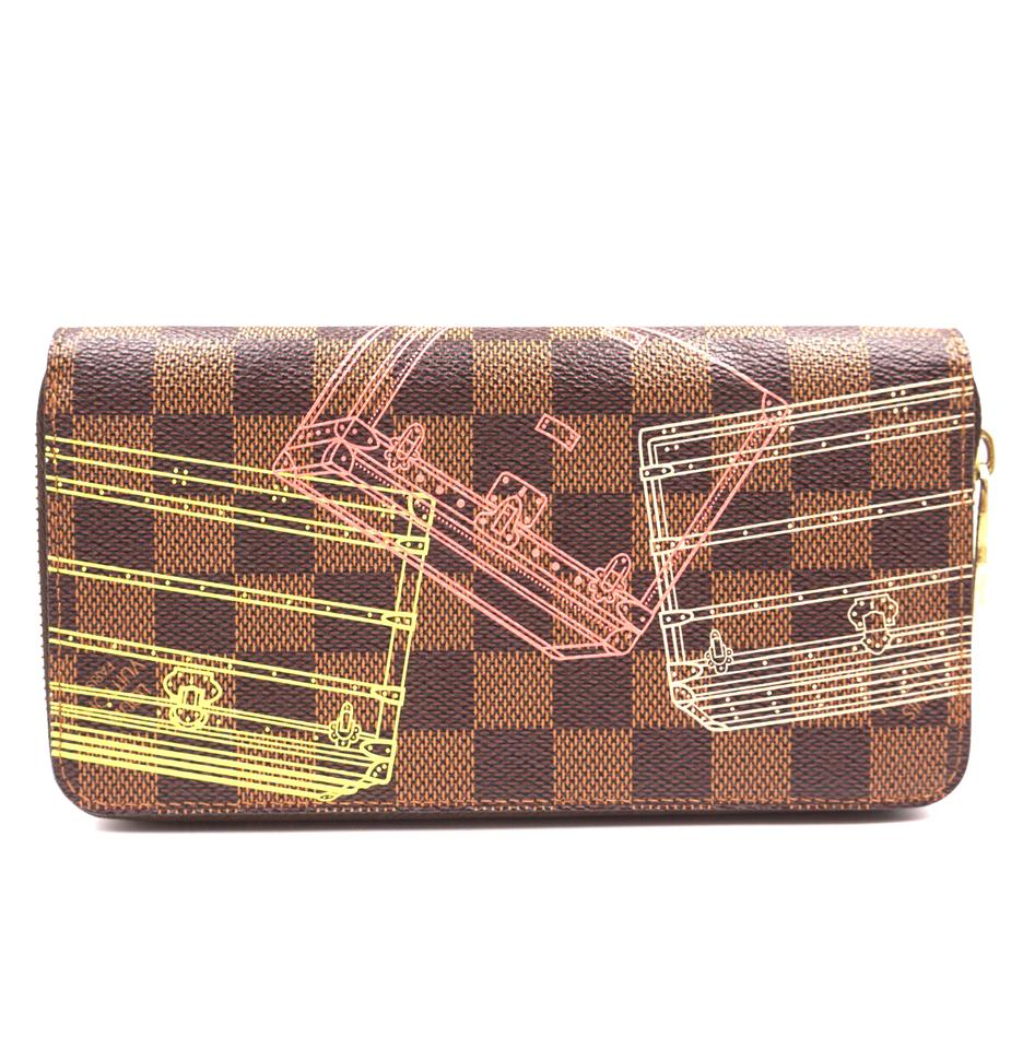 Louis Vuitton Damier Ebene Multicolors Zip Around Organizer Long Wallet