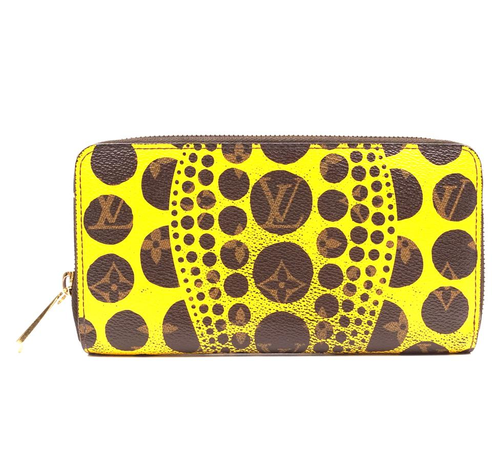 Louis Vuitton Monogram Yellow Kusama Long Zip Around Wallet