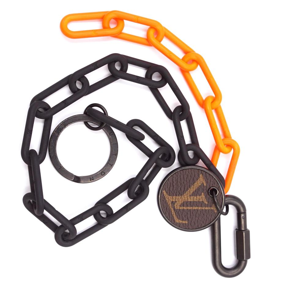 Louis Vuitton Black Orange Monogram Chain Key Charm