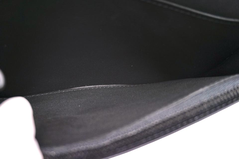 Louis Vuitton Black Shadow Leather Brazza Long Bifold Wallet