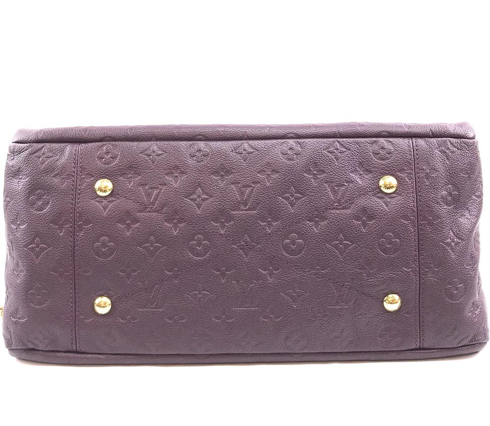 Louis Vuitton Artsy MM Monogram Purple Empreinte Leather