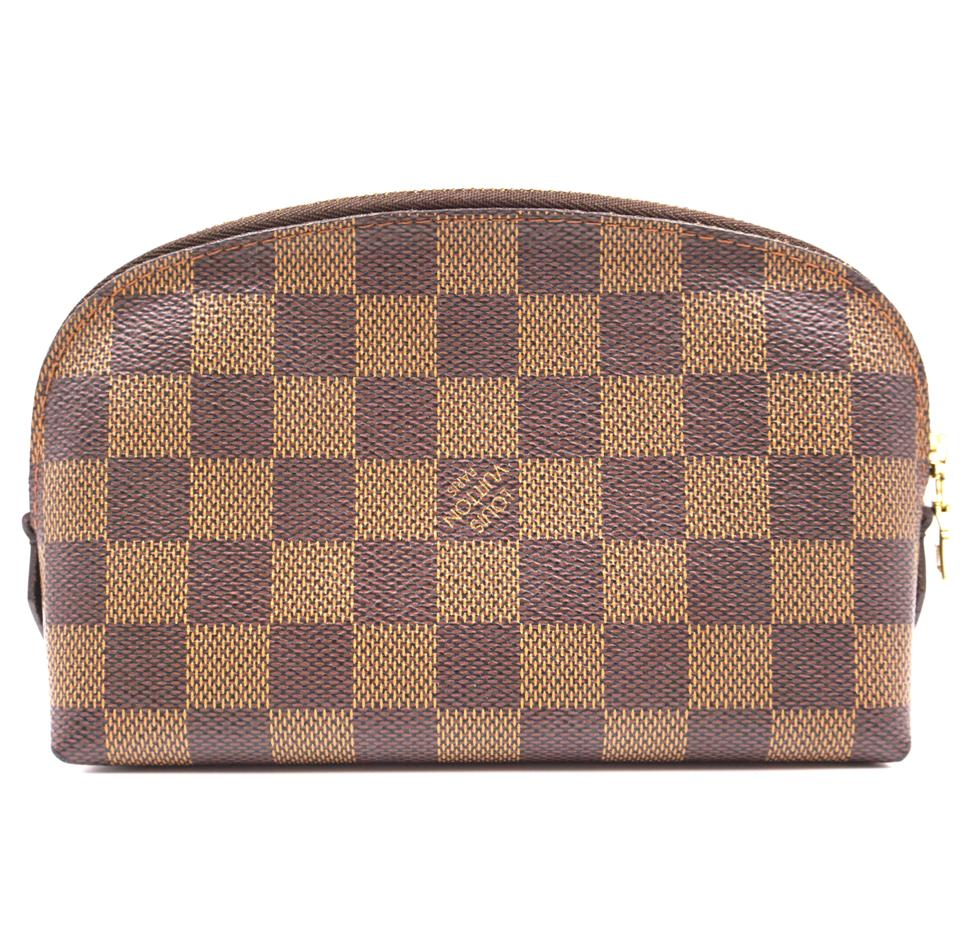 Louis Vuitton Case Pochette Damier Ebene Canvas