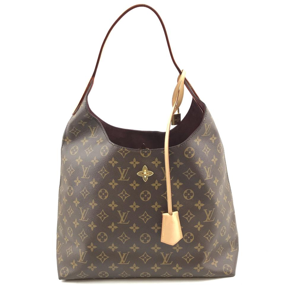 Louis Vuitton Shoulder Flower Monogram Canvas