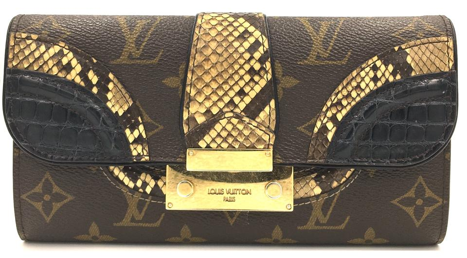 Monogram Monogramissime with Black Alligator and Ombre Python Skin Leather Malle Clutch