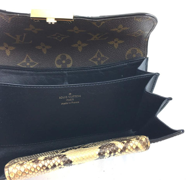 6a8d42d78900 ... Monogram Monogramissime with Black Alligator and Ombre Python Skin  Leather Malle Clutch ...