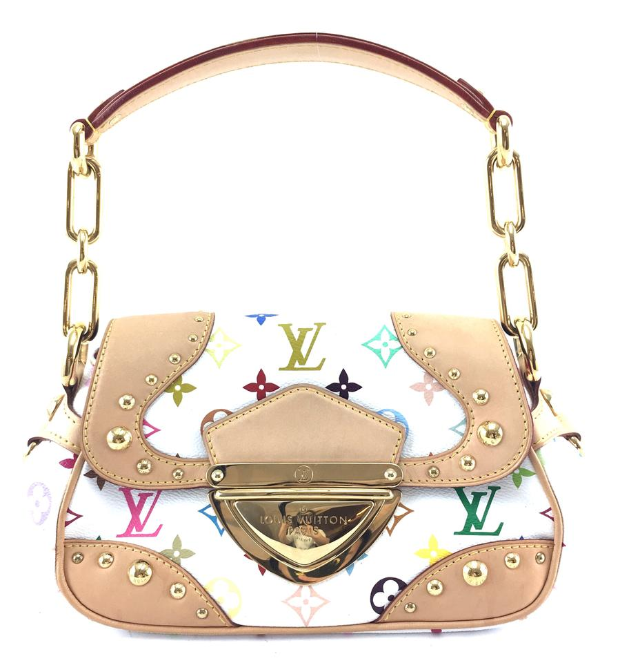 White Multicolor Monogram Marilyn