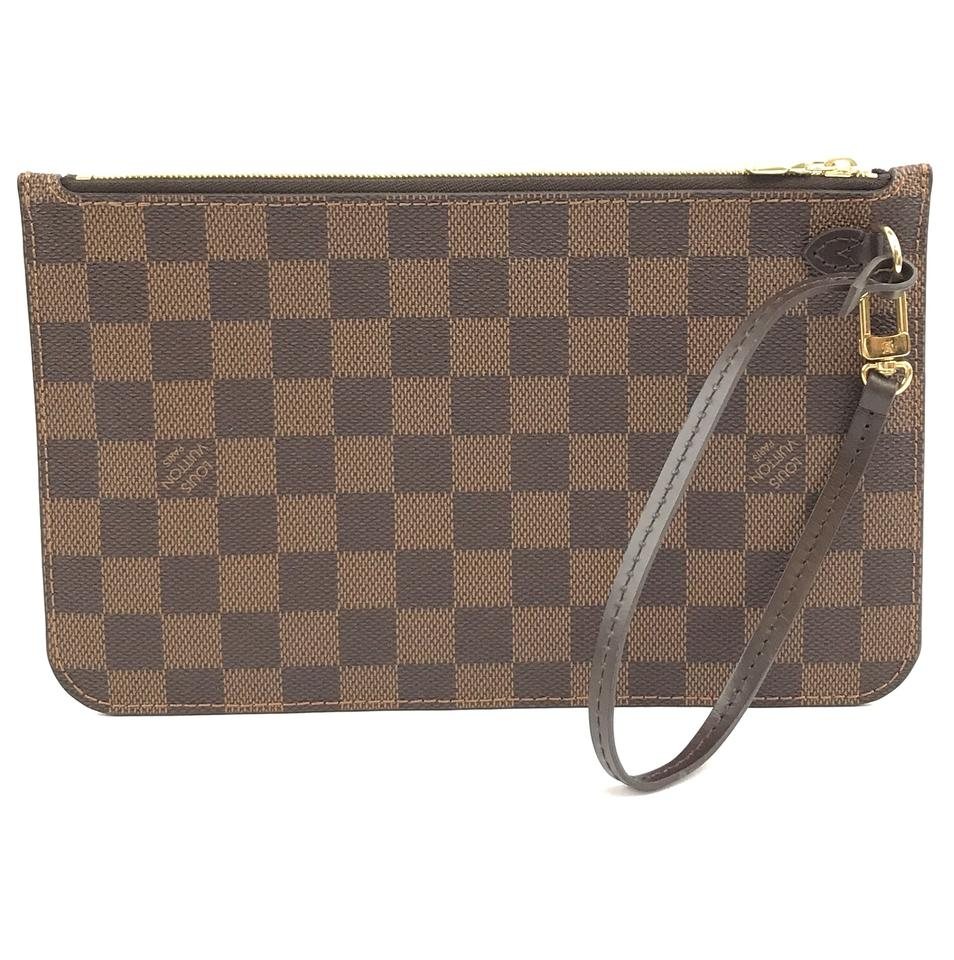 Louis Vuitton Neverfull Pochette Damier Ebene Canvas