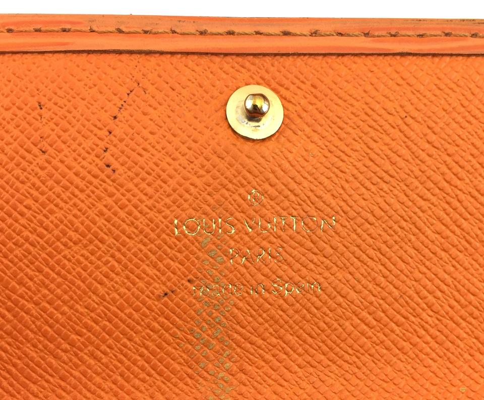Louis Vuitton Orange Epi Flap Sarah Bill Long Wallet