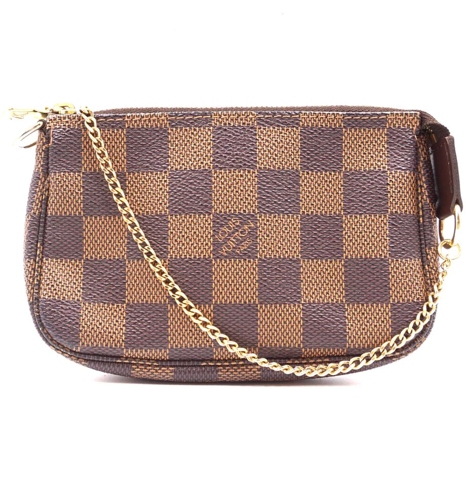 Louis Vuitton Pochette Clutch Damier Ebene Canvas