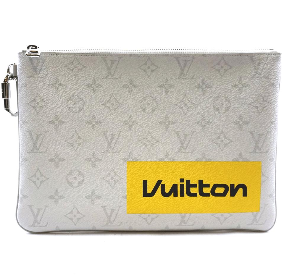 Louis Vuitton Pochette Clutch Off-white Multicolor Monogram Canvas