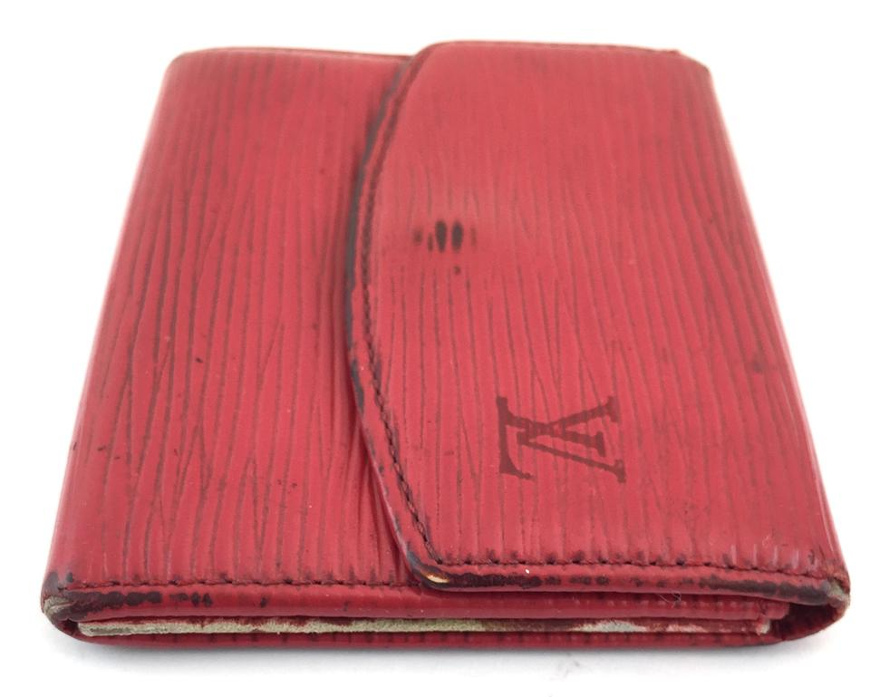 Louis Vuitton Red Epi Double Sided Compact Flap Wallet