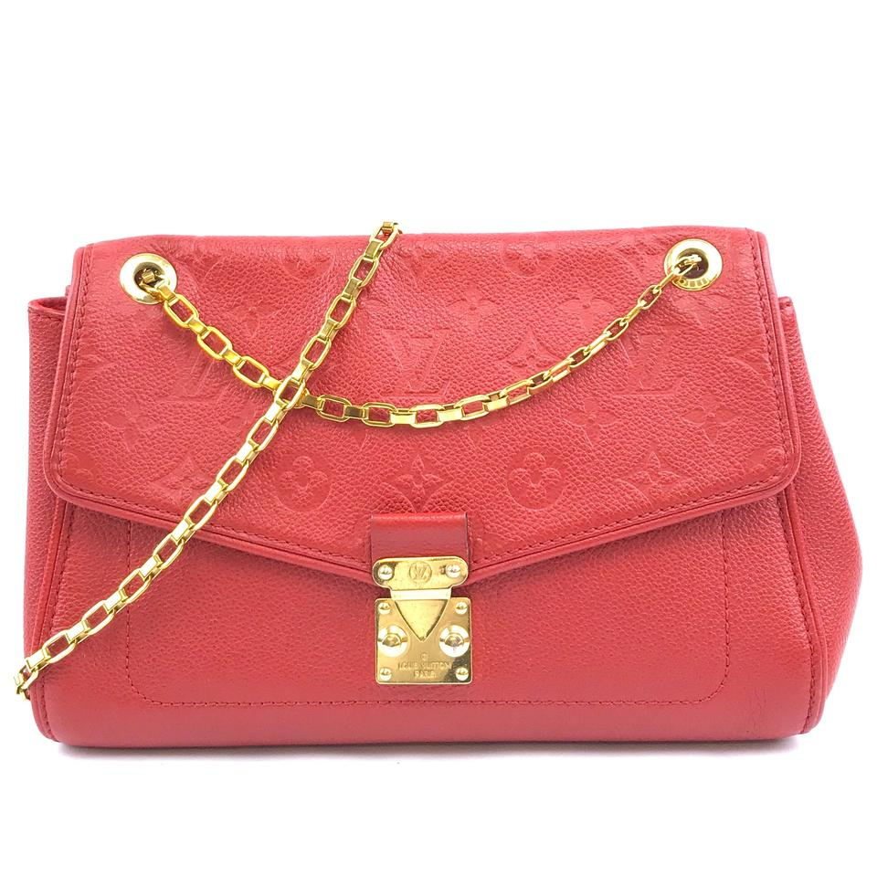 Louis Vuitton Saint Germain PM Monogram Red Leather