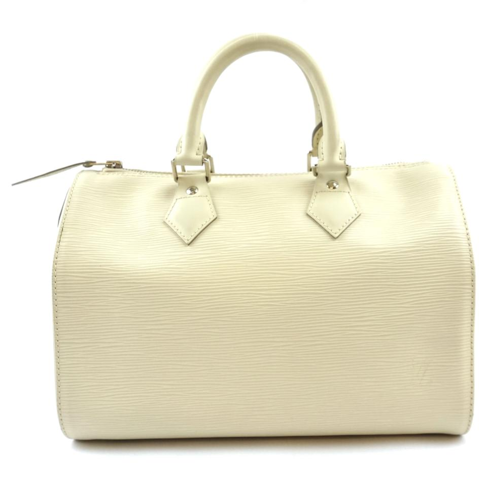 Louis Vuitton Speedy 25 Cream Epi Leather