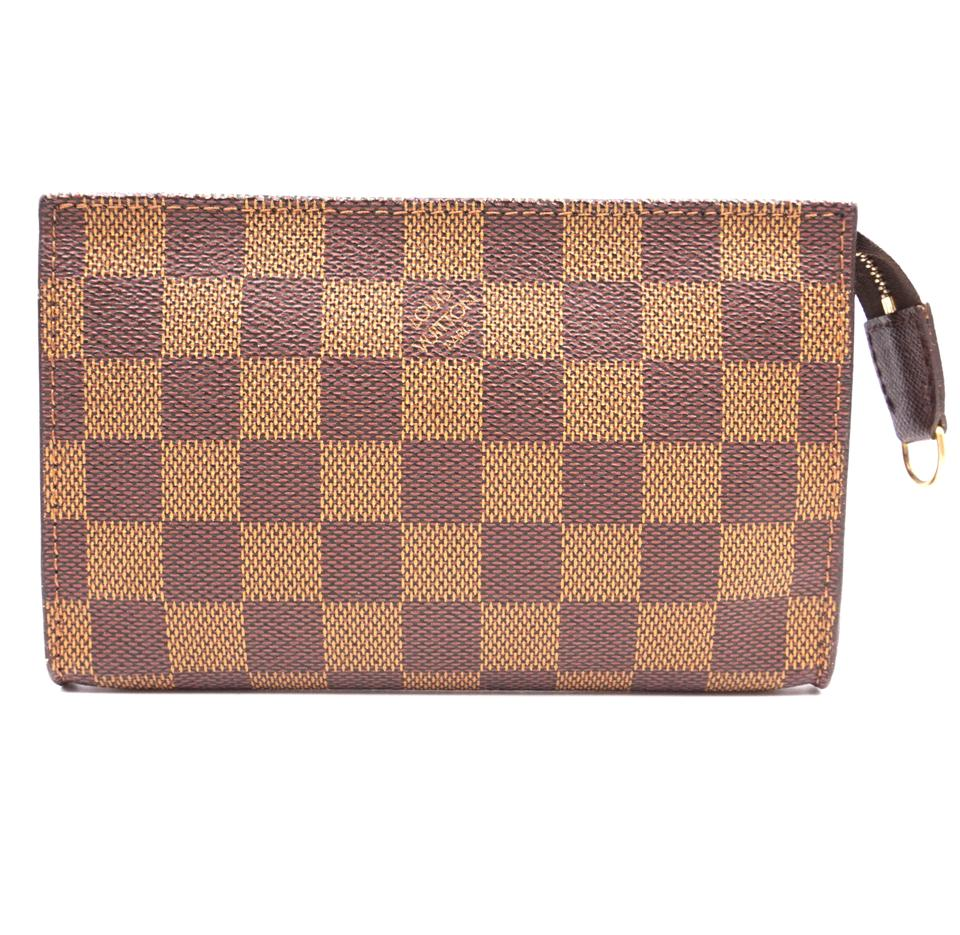 Louis Vuitton Toiletry Pochette Damier Ébène Canvas