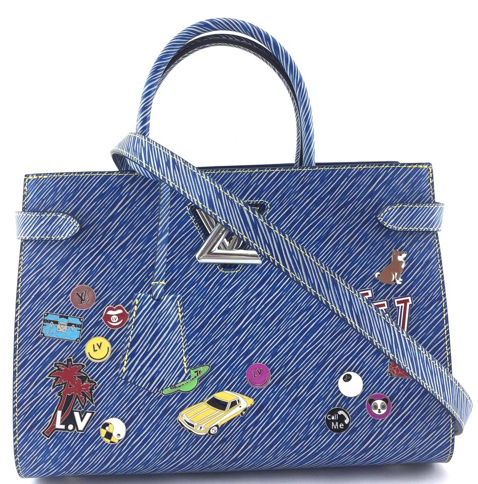 Blue Denim Epi LV Lock Twist Bag