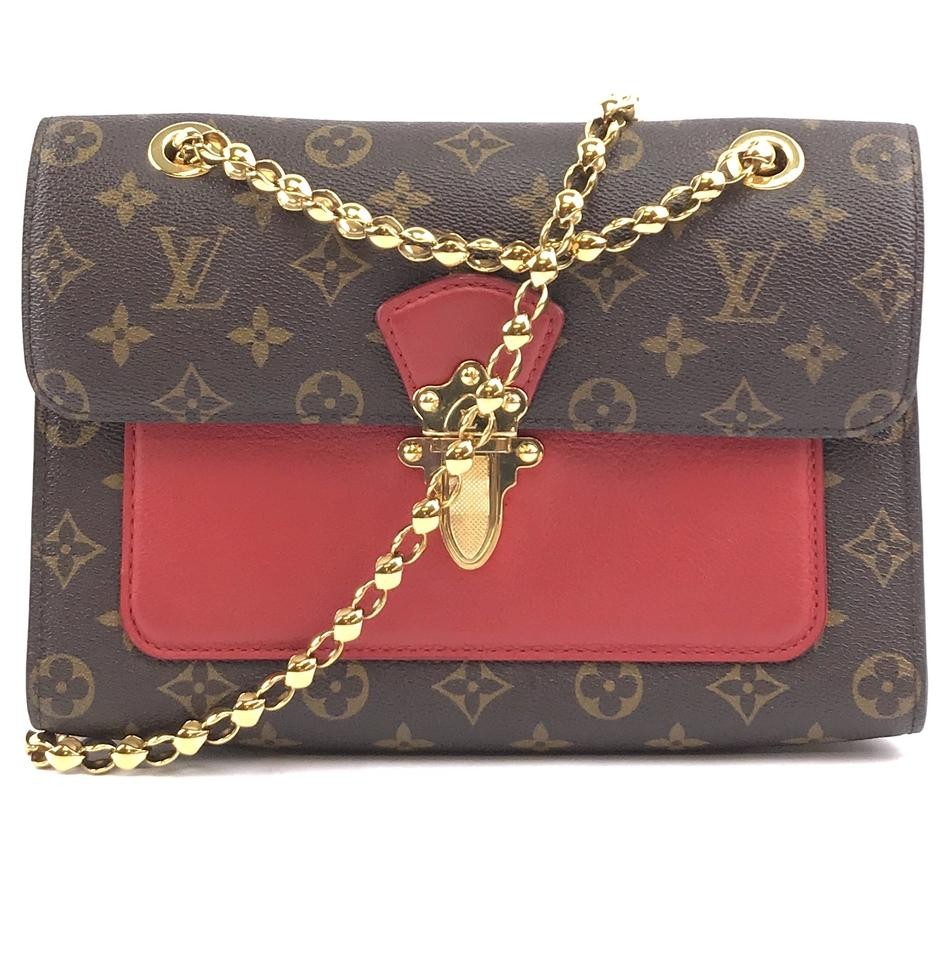 583d8b66a233 Monogram Red Leather Victoire. Louis Vuitton. Monogram Red Leather Victoire