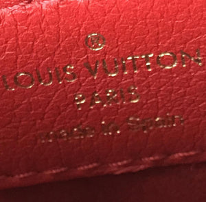 Louis Vuitton Monogram Red Leather Victoire