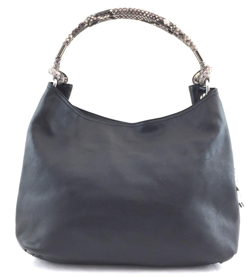 Michael Kors Isabel Shoul Black Leather
