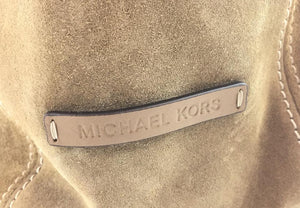 Michael Kors Lena Tall Brushed Mustard Yellow Suede Leather