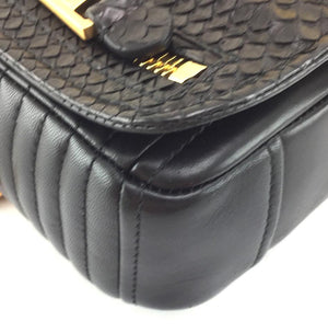 Moschino Jacket Bag Python Skin Leather