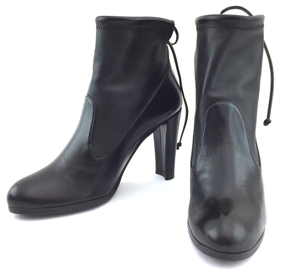 Stuart Weitzman Stuart Weitzman Black Leather Ankle Pumps Boots