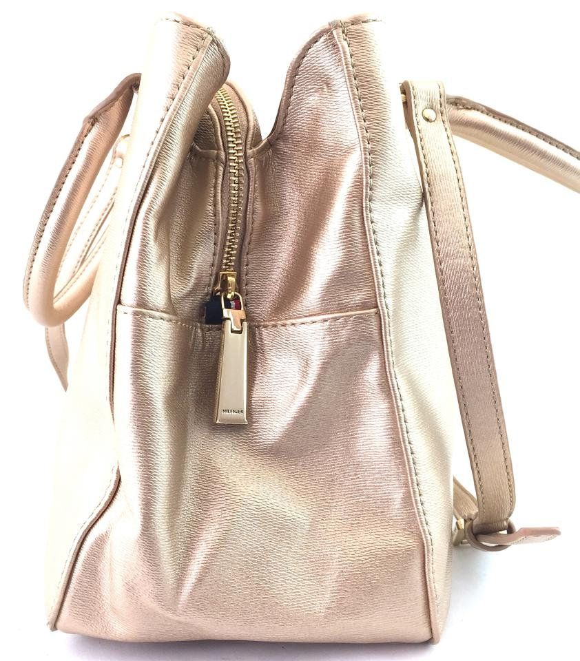 Tommy Hilfiger Alexa Metallic Gold Leather