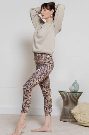 Workout Leggings - Brown Leopard