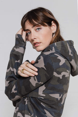 Oversized Hoodie - Camo Army