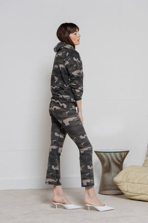Crop Leggings - Camo Army