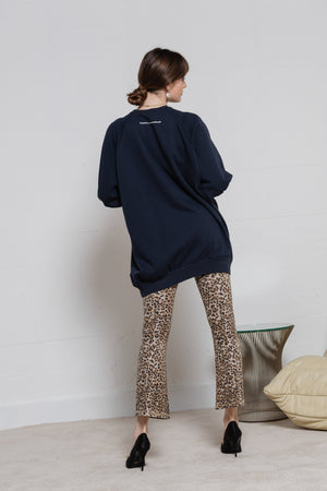 Cropped Leggings - Brown Leopard