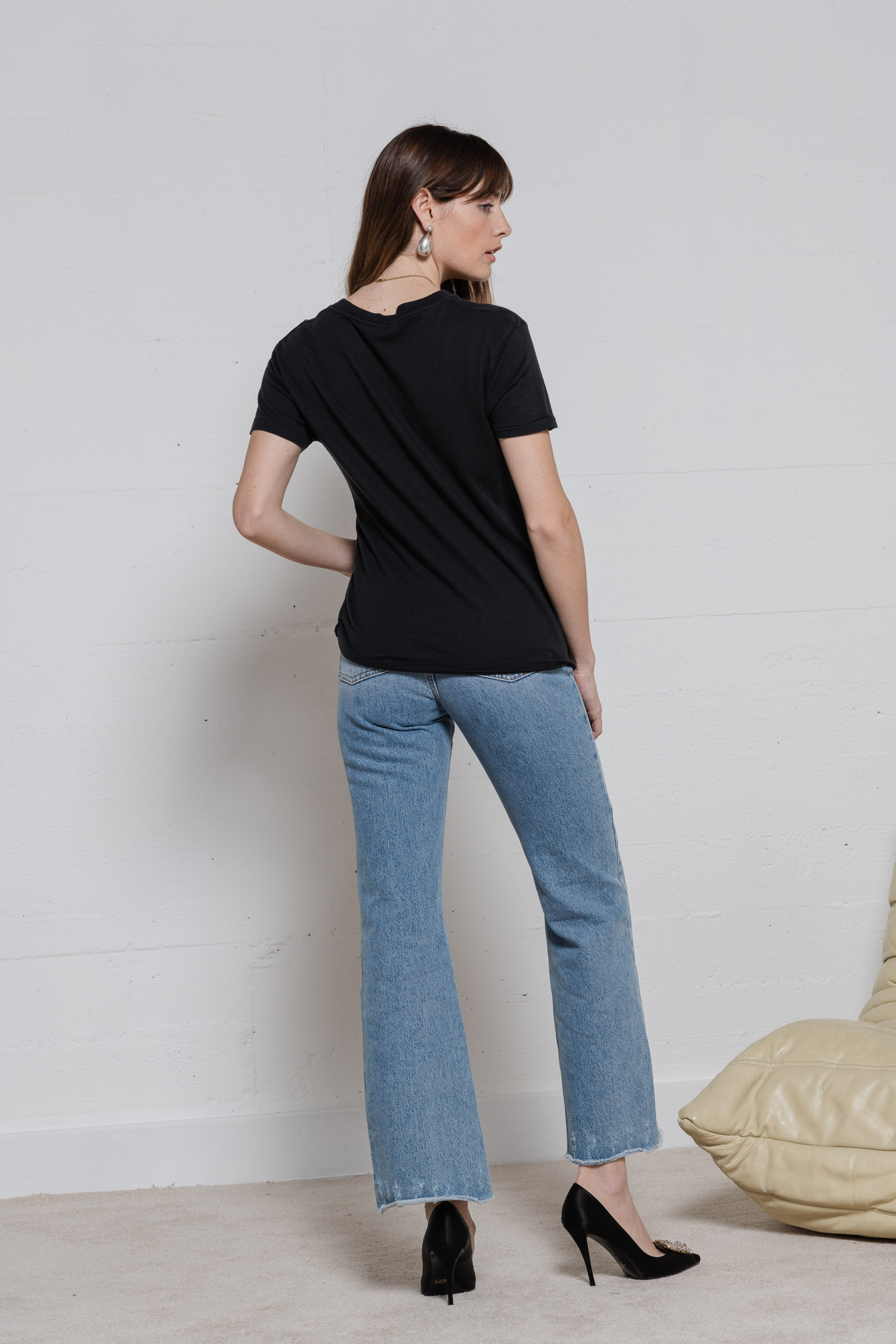 Slouchy Tee - Faded Black