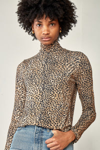 Turtleneck - Brown Leopard