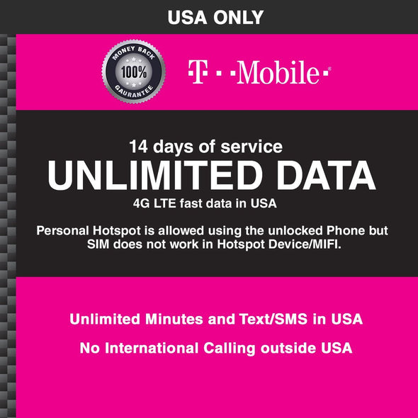 T-Mobile 14 days USA only - BigTravelStore