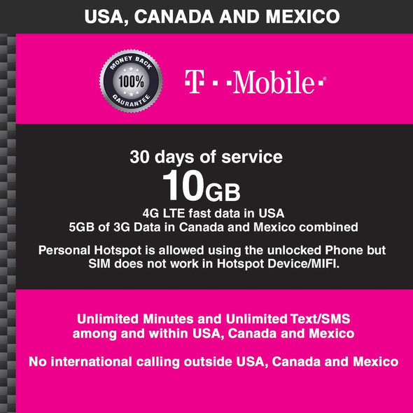 T-Mobile 30 days 10 GB USCM - BigTravelStore