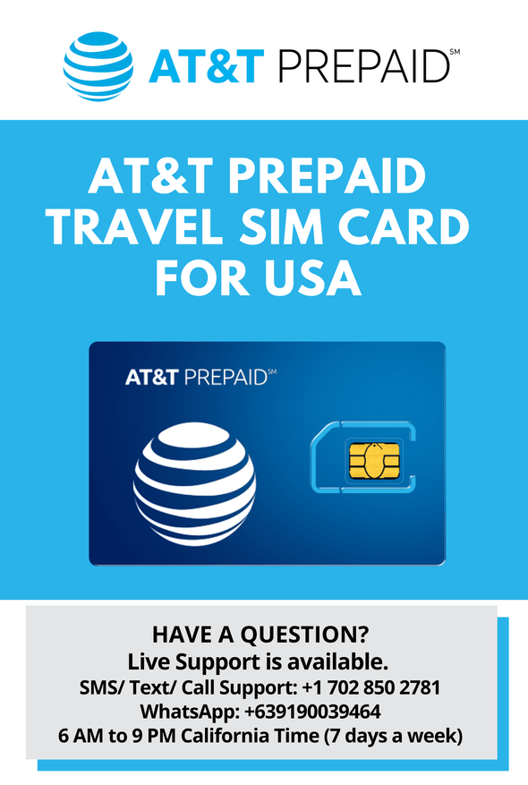 AT&T Prepaid Brand USA Prepaid Travel SIM Card Unlimited 4G LTE Data, Calls and Texts - BigTravelStore
