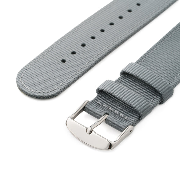 Apple Watch Nylon - Gray/Stainless, ARC-AWNYL-GRYS42, ARC-AWNYL-GRYS38