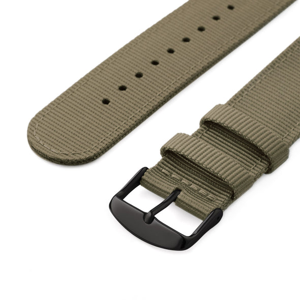 Apple Watch Nylon - Khaki/Black, ARC-AWNYL-KHKB42, ARC-AWNYL-KHKB38