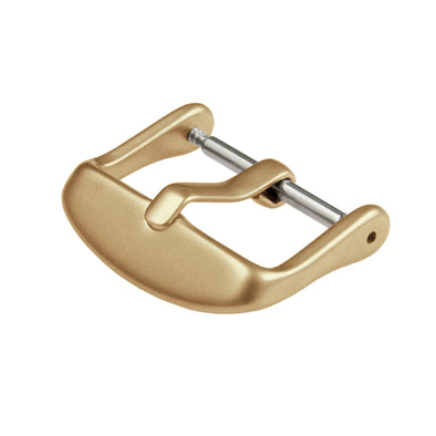 Stainless Steel Buckle - Matte Gold PVD, ARC-BKL-GLDM24, ARC-BKL-GLDM22, ARC-BKL-GLDM20, ARC-BKL-GLDM18, ARC-BKL-GLDM16