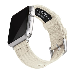 Apple Watch Canvas - Alabaster/Silver Aluminum, ARC-AWC2-ALBS42, ARC-AWC2-ALBS38